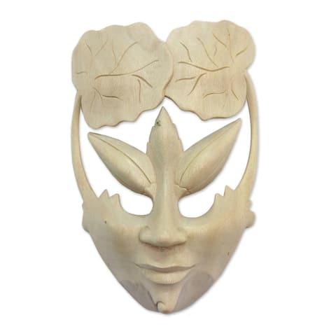 Handmade Water Lily Princess Wood Mask (Indonesia)