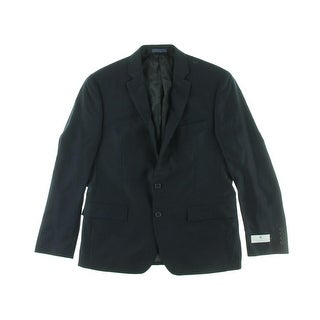 Ryan Seacrest Mens Wool Notch Collar Two-Button Blazer
