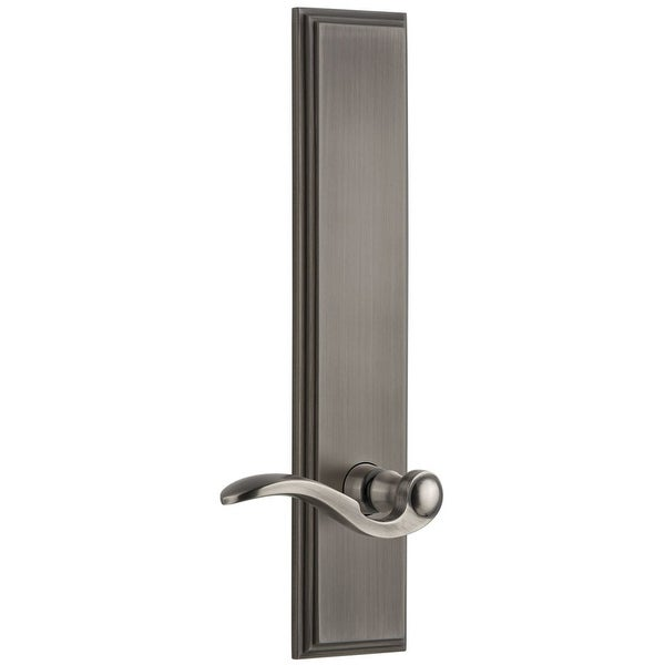b0a04cfc8 Shop Grandeur CARBEL_TP_SD_NA_LH Carre Solid Brass Tall Plate Rose Left  Handed Single Dummy Door Lever with Bellagio Lever - Free Shipping Today -  Overstock ...