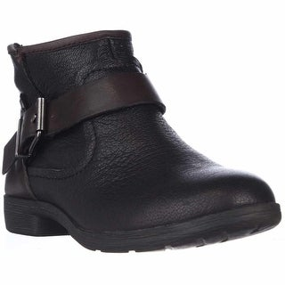 BCBGeneration Rough Ankle Strap Casual Ankle Boots - Black
