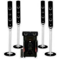 "Acoustic Audio AAT1000 Tower 5.1 Home Speaker System with 8"" Powered Subwoofer"