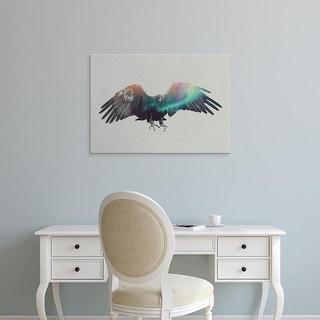 Easy Art Prints Andreas Lie's 'Eagle in the Aurora Borealis' Premium Canvas Art