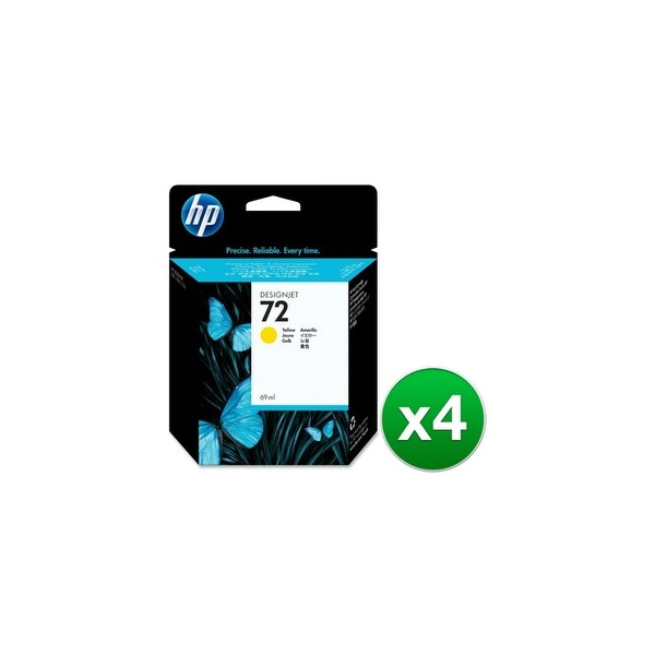 HP 72 69-ml Yellow DesignJet Ink Cartridge (C9400A) (4-Pack)