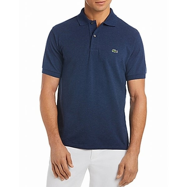 59249c14 Shop Lacoste Navy Blue Mens Size 4XL Logo Polo Short-Sleeve Shirt - Free  Shipping Today - Overstock - 28507784