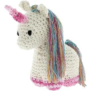 Hoooked Unicorn Nora Yarn Kit W/Eco Brabante Yarn-Off White
