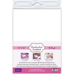"""White - Crafter's Companion Construction Cardstock 12""""X16"""" 15/Pkg"""