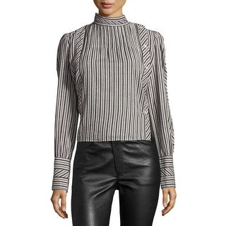 Isabel Marant Etoile Oak Striped Mock Neck Top