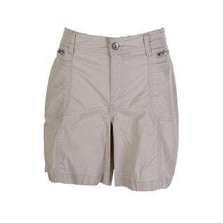 Style & Co Plus Size Beige Zipper Detailed Shorts 14W