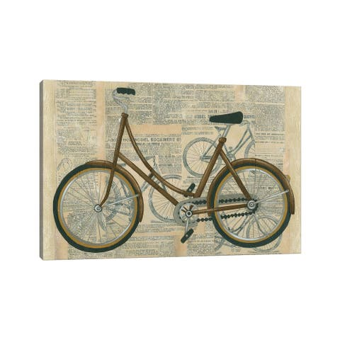 """iCanvas """"Tour By Bicycle II"""" by Chariklia Zarris Canvas Print"""