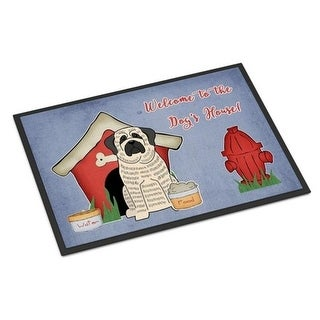 Carolines Treasures BB2770MAT Dog House Collection Mastiff Brindle White Indoor or Outdoor Mat 18 x 0.25 x 27 in.