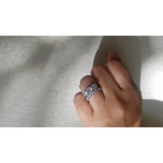 ICZ Stonez Sterling Silver Three Stone Ring