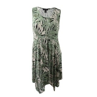 Jessica Simpson Women's Plus Size Handkerchief-Hem Dress (1X, Tropical Breeze) - tropical breeze - 1x