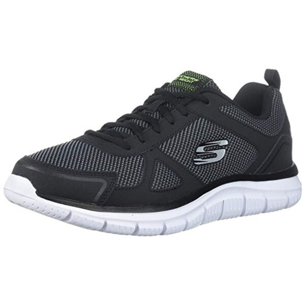 Skechers Men's Track Bucolo Low Top Shoes Black White 8.5