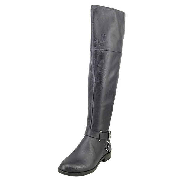 Bar III Dolly Women Round Toe Synthetic Blue Knee High Boot