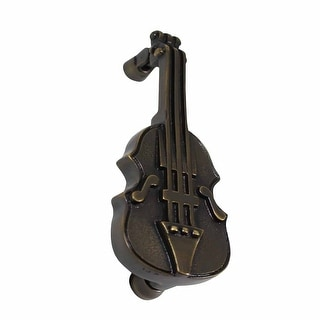 Antique Brass Vintage Door Knocker Violin 6.5H