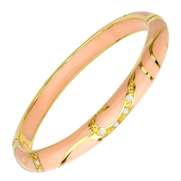 Cristina Sabatini Peach Flourish Bangle in 14K Gold-Plated Sterling Silver