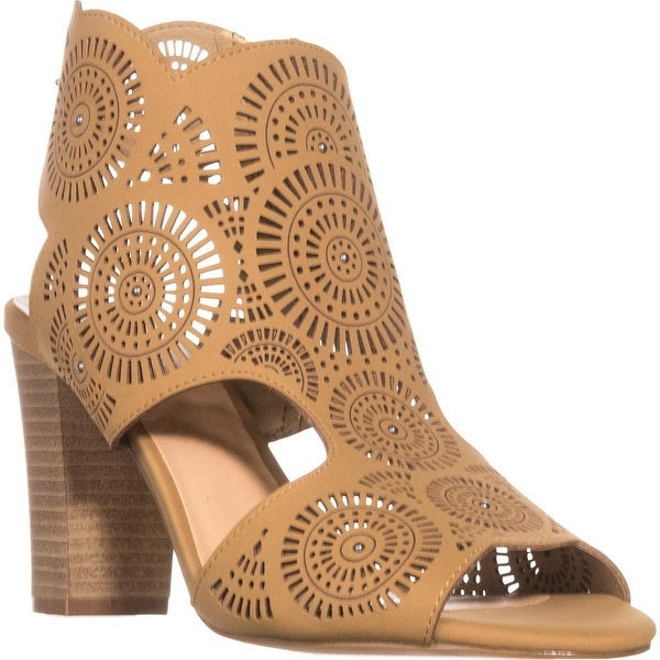 XOXO Benedetta Heeled Slingback Sandals, Tan - 8.5 us / 40 eu