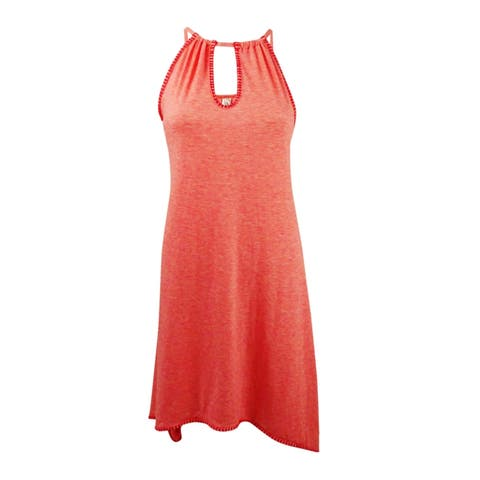 Lucky Brand Women's Hazy Days Swing Dress Cover-Up - Coral