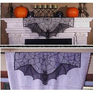 Bat Lace Curtain Topper