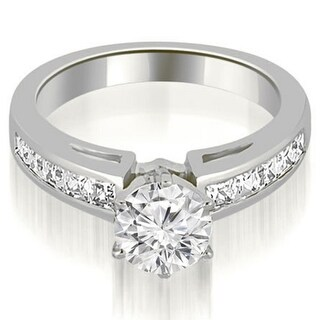 1.25 CT.TW Channel Set Princess Cut Diamond Engagement Ring in 14KT Gold - White H-I