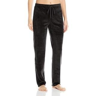 Natori NEW Black Women's Size Large L Velour Lounge Pants Sleepwear