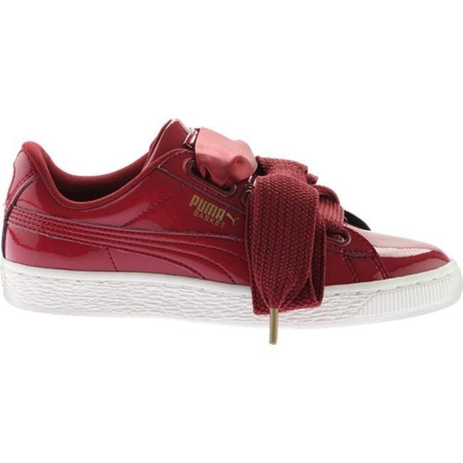 the best attitude 69744 99084 PUMA Women's Basket Heart Patent Sneaker Tibetan Red/Tibetan Red