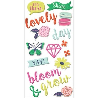 Flower Girl Puffy Stickers-
