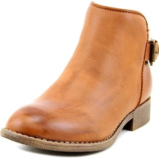Nina Romela Round Toe Leather Bootie