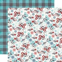 """Floral Flurries - A Perfect Winter Double-Sided Cardstock 12""""X12"""""""