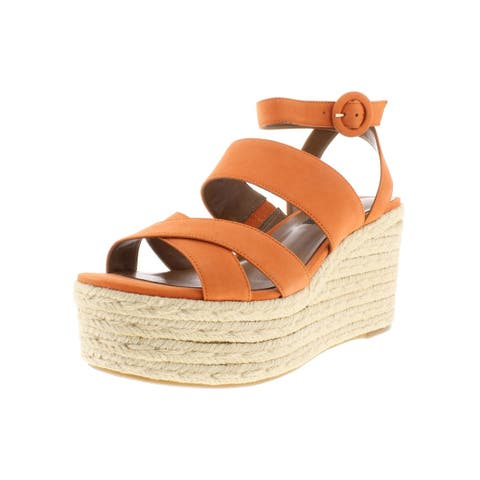 Nine West Womens Kushala Wedge Sandals Nubuck Espadrille