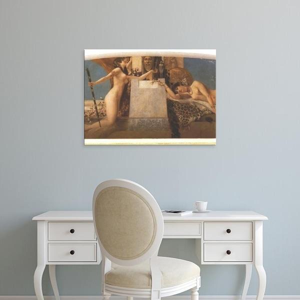 Easy Art Prints Gustav Klimt's 'Altar of Dionysus' Premium Canvas Art