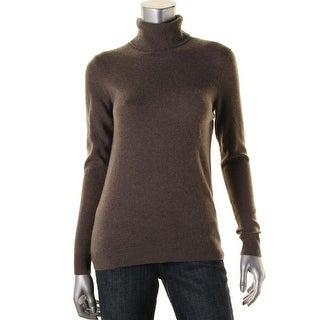 Private Label Womens Cashmere Turtleneck Pullover Sweater - S