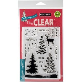 "Hero Arts Clear Stamps 4""X6""-Color Layering Snowy Tree"