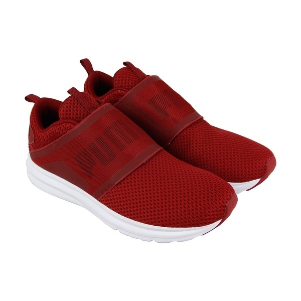 df1f78c5d53a35 Shop Puma Enzo Strap Mens Red Mesh Athletic Strap Running Shoes ...