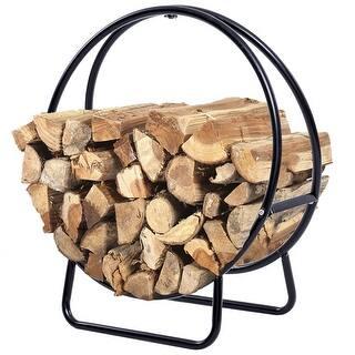Costway 2 Feet Tubular Steel Log Hoop Firewood Storage Rack Holder Round Display|https://ak1.ostkcdn.com/images/products/is/images/direct/c15c2679d7113e885f3fc190c7d07489a550a669/Costway-2-Feet-Tubular-Steel-Log-Hoop-Firewood-Storage-Rack-Holder-Round-Display.jpg?impolicy=medium