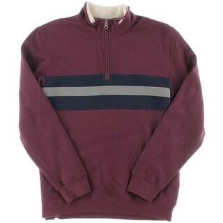 Izod Mens 1/4 Zip Colorblock Fleece Jacket