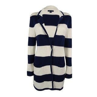 Tommy Hilfiger Women's Striped Single-Button Cardigan