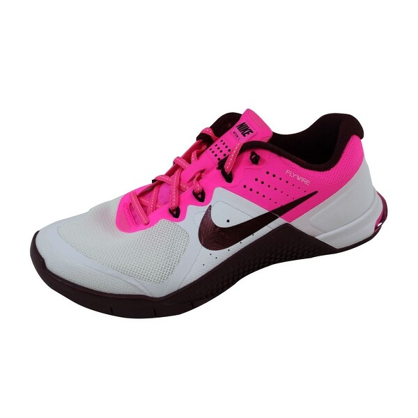 Nike Women's Metcon 2 White/Night Maroon-Pink Blast-Black821913-106