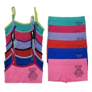 Girl's 6 Pack Seamless Tear Bear Rhinestones Underwear Set