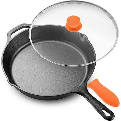 Legend Cast Iron Skillet with Glass Lid & Silicon Handle