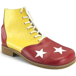 Funtasma Men's Clown 02 Yellow/Red PU