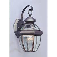 "Volume Lighting V9281 1 Light 13"" Height Outdoor Wall Sconce with Clear Beveled"