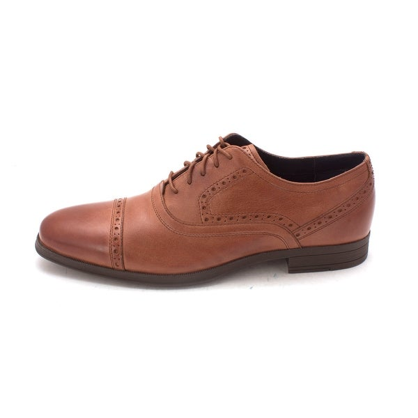 Cole Haan Mens Montgomery Balmoral Cap Toe Leather Lace Up, Woodbury, Size 8.5