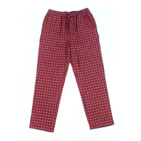 Nautica Red Men Size Small S Plaid Drawstring Lounge Pants Sleepwear
