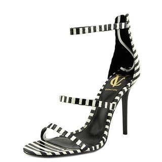 Vince Camuto Bayron Women Open Toe Leather Black Sandals