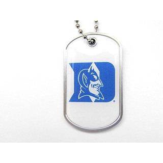 Duke Blue Devils Dog Tag Domed Necklace Charm Chain NCAA