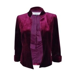 Tahari ASL Women's Open-Front Velvet Jacket