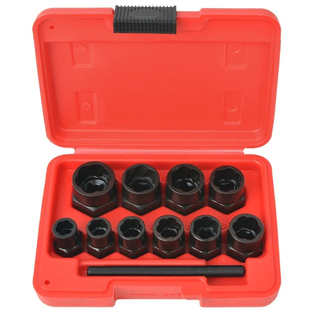 Shop Vidaxl 11 Piece Bolt Extractor Set For Damaged Bolts And Nuts Steel Overstock 20582201