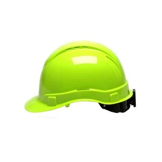Pyramex Safety Products Ridgeline Cap Style Hard Hat - Rl Cap Style 4 Pt Ratchet Hv Green - hi vis green