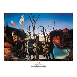 ''Swans Reflecting Elephants'' by Salvador Dali Fantasy Art Print (11 x 14 in.)